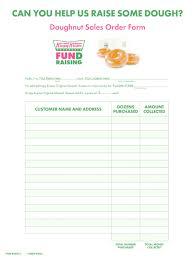 Krispy Kreme Fundraiser Profit Chart 2019 Sensational School Fundraising Form Template Ideas Order