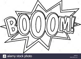 boom ic book explosion icon outline style