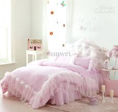 full size comforter exquisite pink lace princess satin cotton bedding set for queen full size comforter