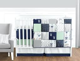 blue crib bedding set navy blue mint and grey woodsy deer baby bedding boys crib set