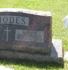 Mary Alice Rhodes (1911-1973) - Find A Grave Memorial