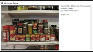 Tier Spice Rack Copco 2555 0188 Non Skid 3 Tier Cabinet Organizer 15 Inch Spice