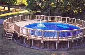 build your own above ground pool deck
