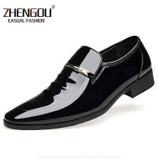 zhengou shiny leather mens dress oxford designer shoes for men loafers formal business shoes 2119 office drop hand made green shoes boots shoes