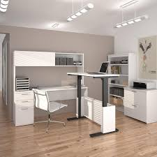 home office l desk. uptown height adjustable lshape desk with hutch lateral file and 36 home office l