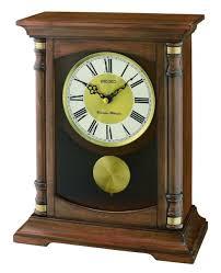 new seiko wooden mantel clock qxq034b