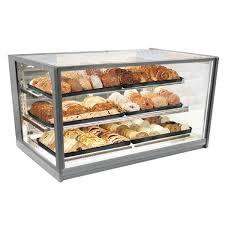 federal industries itd3634 italian series 36 countertop dry bakery display case 15 5 cu ft