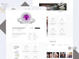 jewellery e commerce website queensland ipad responsive jeweler ring ilration australia website uidesign shremal design