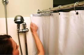 image of shower splash guard bathtub