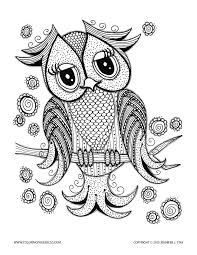 Owls To Color For Kids Owls Kids Coloring Pages