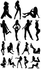 女性のセクシーシルエット素材 無料ダウンロード