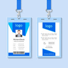 Blue Employee Identity Card Template Template For Free