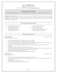 Assistant Project Manager Resume Job Description Office Manager Resume Example Office Manager Resume