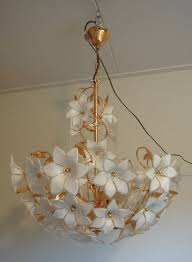 designer unknown murano glass flowers ceiling light chandelier in the style of franco luco
