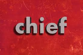 Image result for chief word