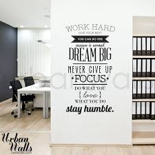 removable wall decals for office work hard office wall decal wall decals  office work hard office