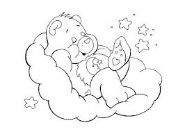 Small Picture Sleeping care bear coloring page stencils and kid art