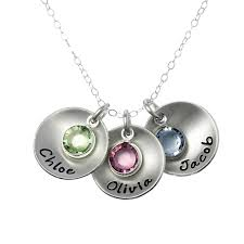 picture of take three round charm necklace