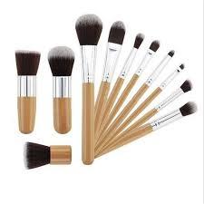 cosmetic brush set. 11pcs wood handle makeup brush set blush foundation pro cosmetic b