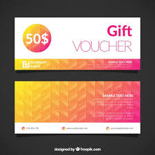 Gift Voucher Free Template Gift Voucher Template Vector Free Download
