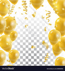 Golden Balloons Celebration Background Template