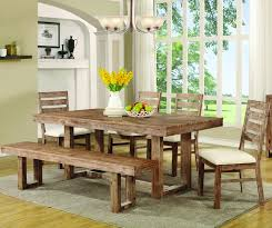 table 4 chairs and bench. coaster 105541 105542 105543 elmwood 6pc table chair bench dining set - main image 4 chairs and