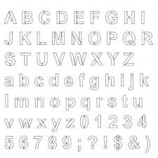 Letter Stencils To Print And Cut Out Printable Letter Stencils For Signs New Free Printable Alphabet
