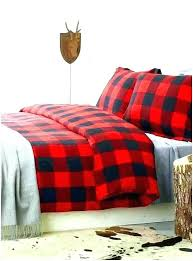plaid flannel duvet cover king covers awesome set red ease bedding and black size