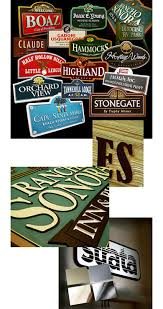 custom outdoor wood signs by strata chicago signage