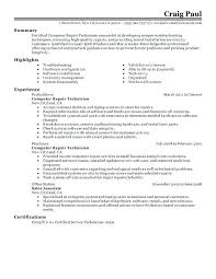 resume technician maintenance maintenance tech resume computer repair technician resume sample