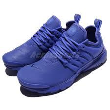 nike wmns air presto prm triple paramount blue leather women shoe 878071 401