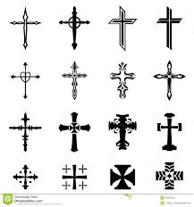 Cross Designs Cross Icon Set Stock Vector Illustration Of Isolated 45808430