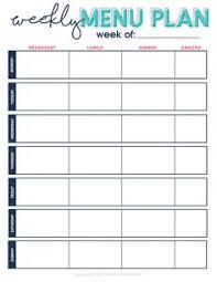 Weekly Meal Plan Sheet Cute Menu Planner Magdalene Project Org