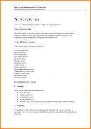 Nursing Resume Format Sampleoc Template Pdf Curriculum Vitae Word