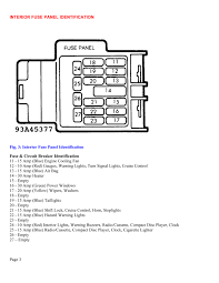 fuse box diagram for 1990 mazda miata fuse wiring diagrams online