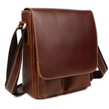 new luxury top quality men s leather messenger bags small shoulder bag for ipad vintage brown flap over satchel bag luxury brand