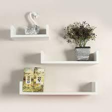 book rack w shape floating wall mounted