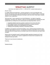 Aircraft Mechanic Resume Examples Best Aircraft Mechanic Cover Letter Examples Livecareer