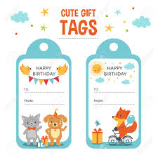 Birthday Tags Template Cute Gift Tags Vector Templates Birthday Gift Tags With Text