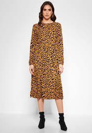 Jacqueline De Yong Size Chart Leopard Print Dress