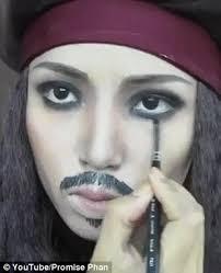 pirate makeup male ideas