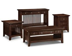 The Arts  Crafts Collection Chocolate Value City Furniture - American standard bedroom furniture