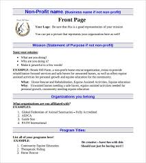 Nonprofit Business Plan Template 23 Non Profit Business Plan Templates Word Pdf Google