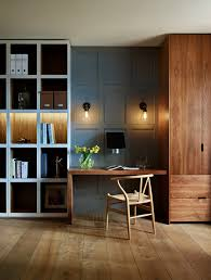 Office wood paneling Office Wall Mid Century Modern Wood Paneling Home Office Contemporary With Display Cabinet Wood Therpgocom Mid Century Modern Wood Paneling Home Office Contemporary With