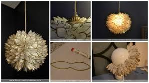 how to make white flower pendant chandelier