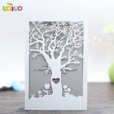 Wedding Invitations With Tree Designs Us 4 0 Tree Design Laser Cut Luxurious Wedding Invitation Cards Cover Invitation Card 10pcs In Cards Invitations From Home Garden On Aliexpress