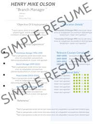 Examples Of Resumes Simple Resume Sample Without Experience
