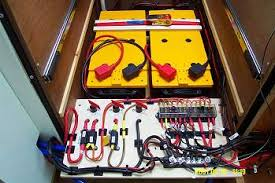 electrics two 12v 200ah batteris and main fuse panel