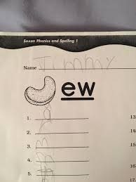 Spelling workbook grade 1, part 1. The Positioning Of The Cashew On My Son S Phonics Worksheet Makes It Look Like It Says Jew Pics
