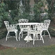 Wrought iron patio furniture with glass top Great for keeping the